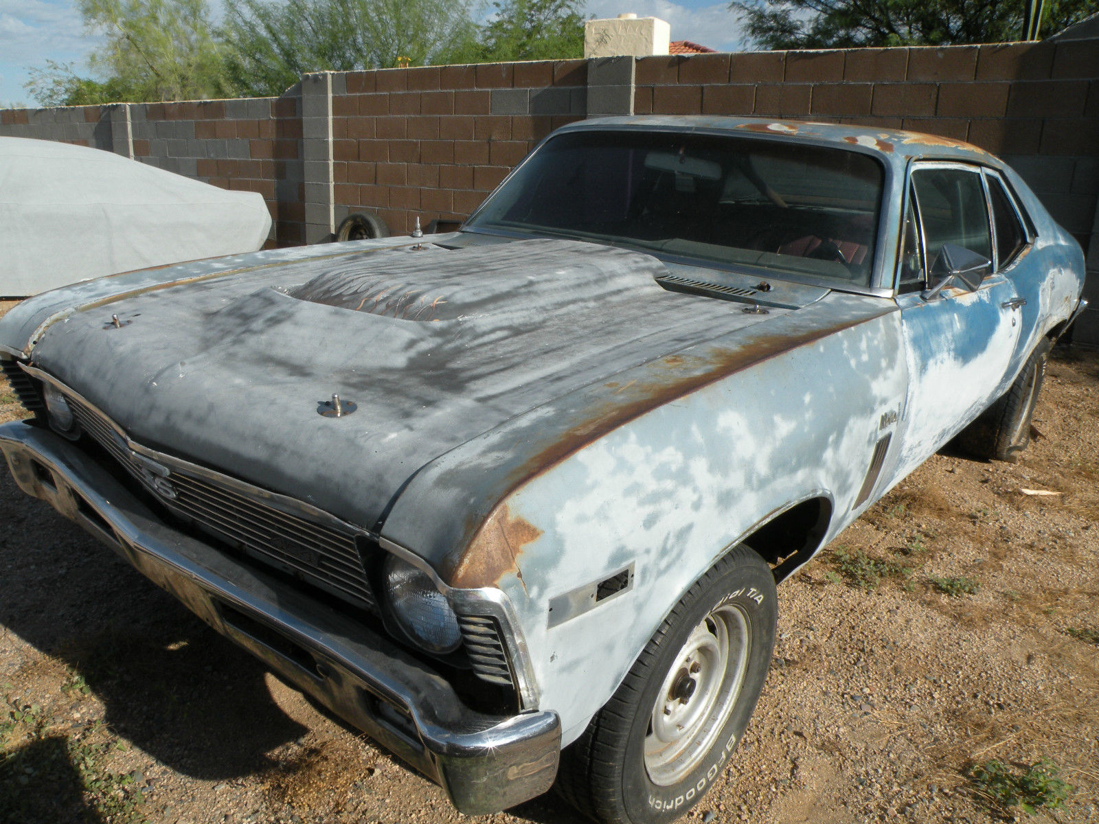 1969 chevrolet nova ss 396 4 speed old vintage race car project for sale. Black Bedroom Furniture Sets. Home Design Ideas