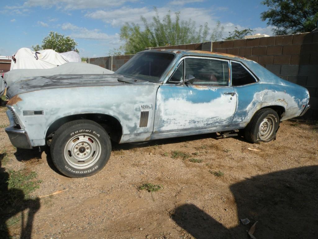 1969 chevrolet nova ss 396 4 speed old vintage race car project for sale. Black Bedroom Furniture Sets. Home Design Ideas