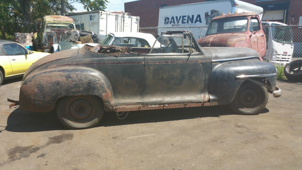 1948 plymouth p15 special deluxe convertible restoration project for sale. Black Bedroom Furniture Sets. Home Design Ideas