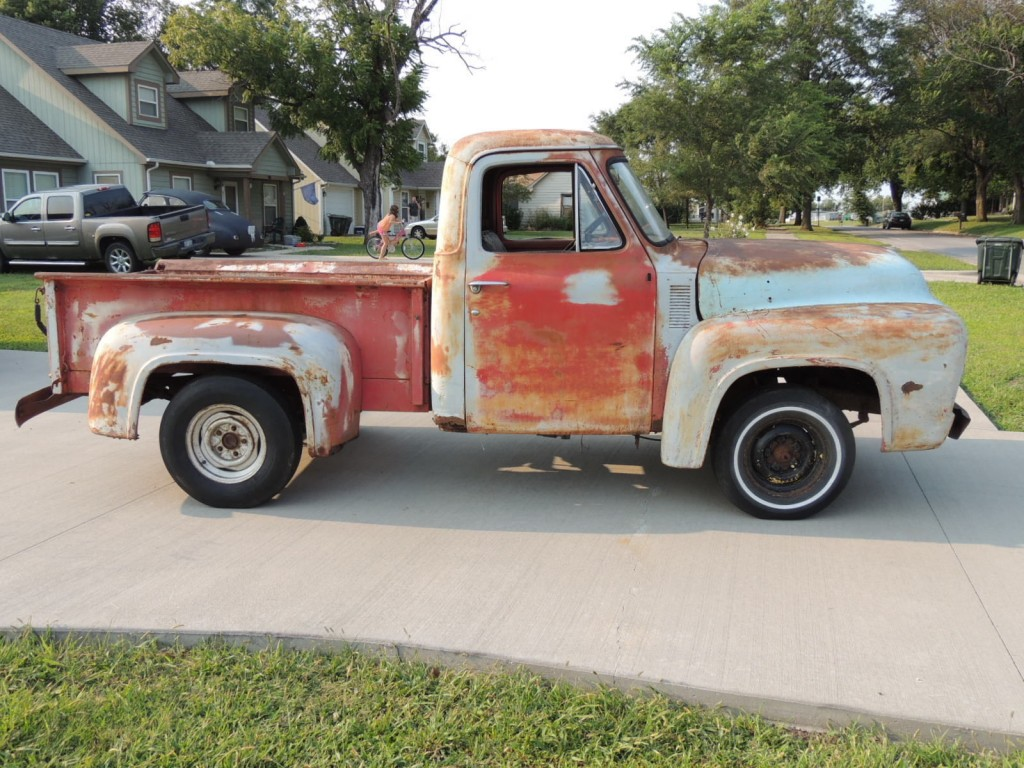1953 ford f 100 50th anniv edition patina project truck for sale. Black Bedroom Furniture Sets. Home Design Ideas
