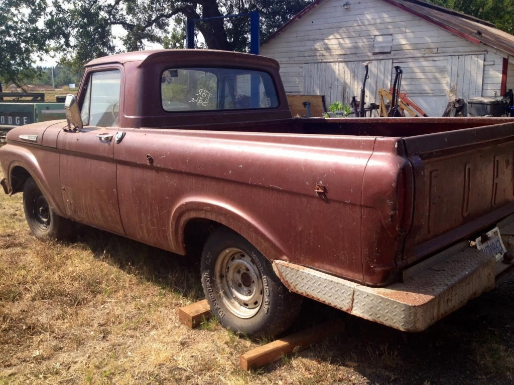 1961 Ford Short Bed Unibody Pickup Truck F 100