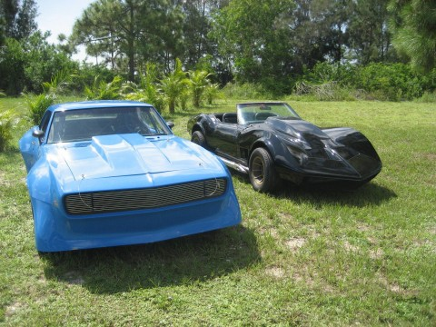 1967 Chevrolet Camaro & 1971 Chevrolet Corvette convertible for sale