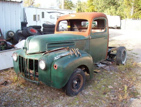 1947 Ford Pickup Project with Camaro subframe for sale