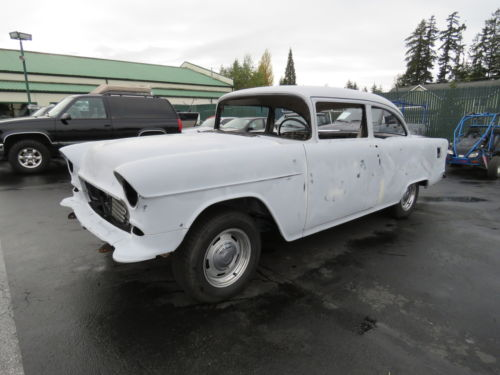 1955 Chevrolet Nomad Unrestored Project Car For Sale: 1955 Chevrolet 210 Post Small Block Th400 Project Car For Sale