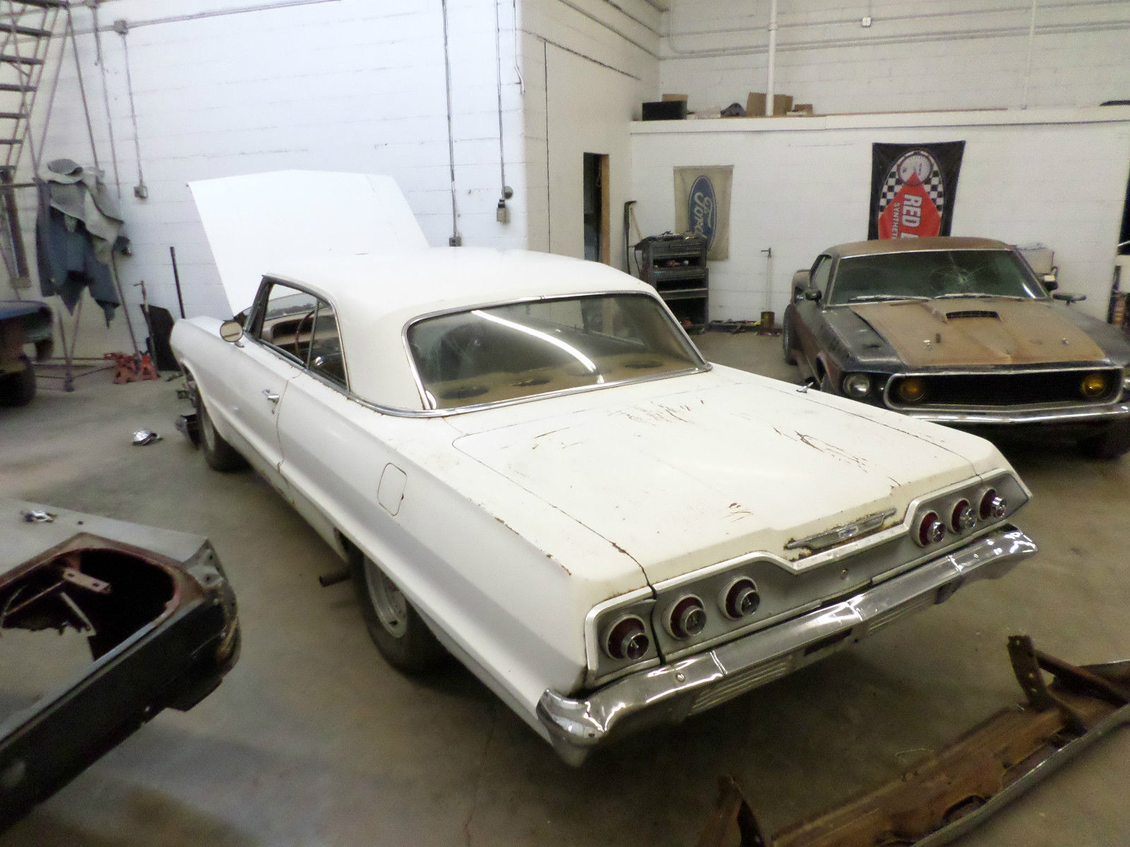 1963 Chevrolet Impala V8 Hotrod Project Car For Sale