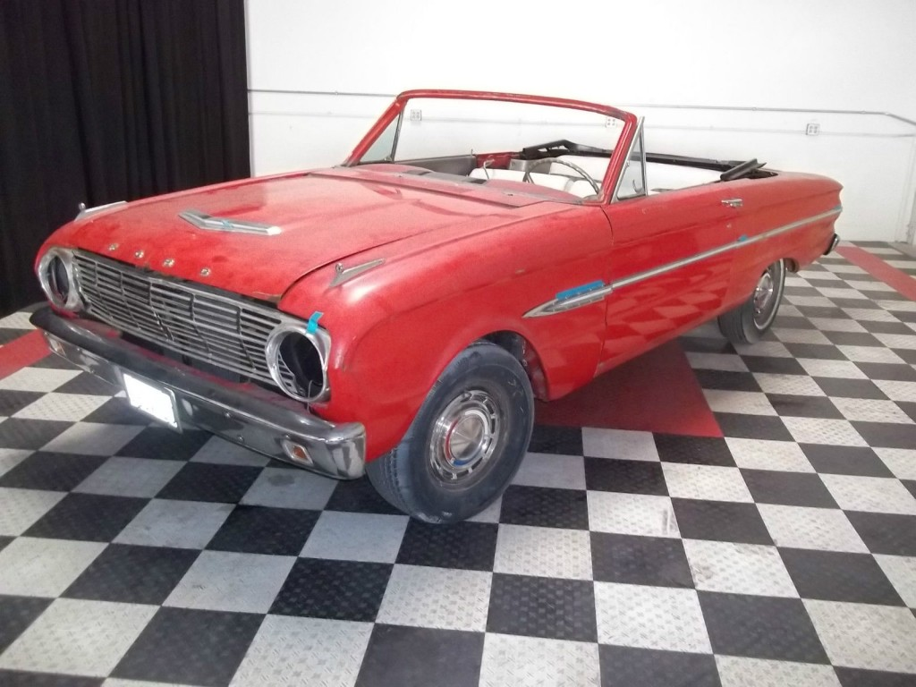 1963 ford falcon convertible v8 4 speed project car. Black Bedroom Furniture Sets. Home Design Ideas