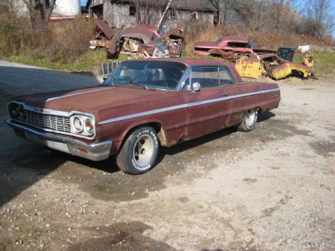 1964 Chevrolet Impala SS Super Sport 327 4 Speed Restoration PROJECT for sale