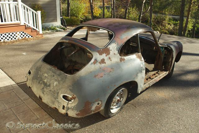 1960 Porsche 356B Restoration Project numbers matching