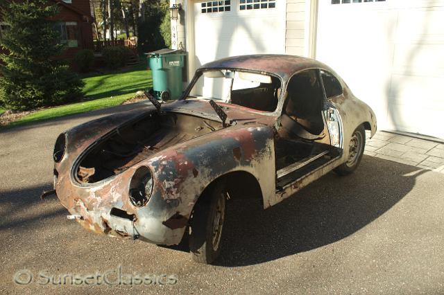1960 Porsche 356B Restoration Project numbers matching