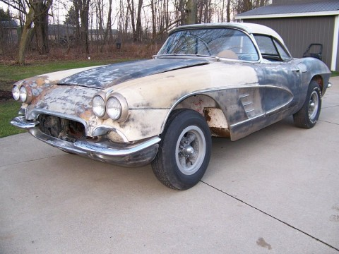 1961 Chevrolet Corvette project car for sale