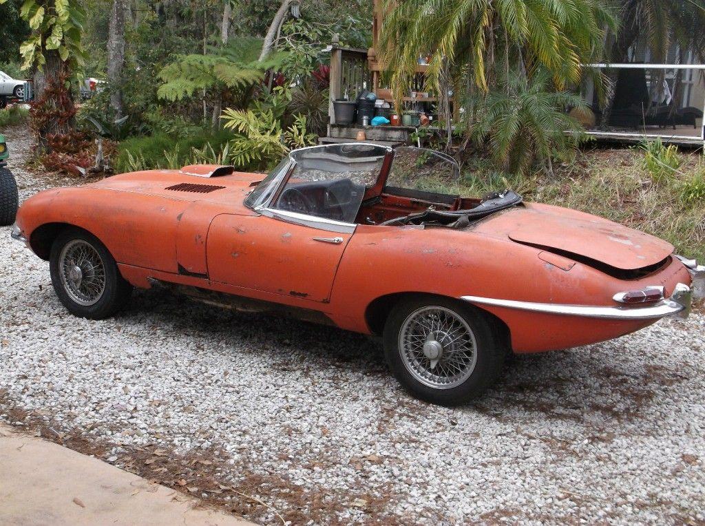 1967 Jaguar XKE 4.2 E type Series 1 Roadster OTS BARN FIND Project Car