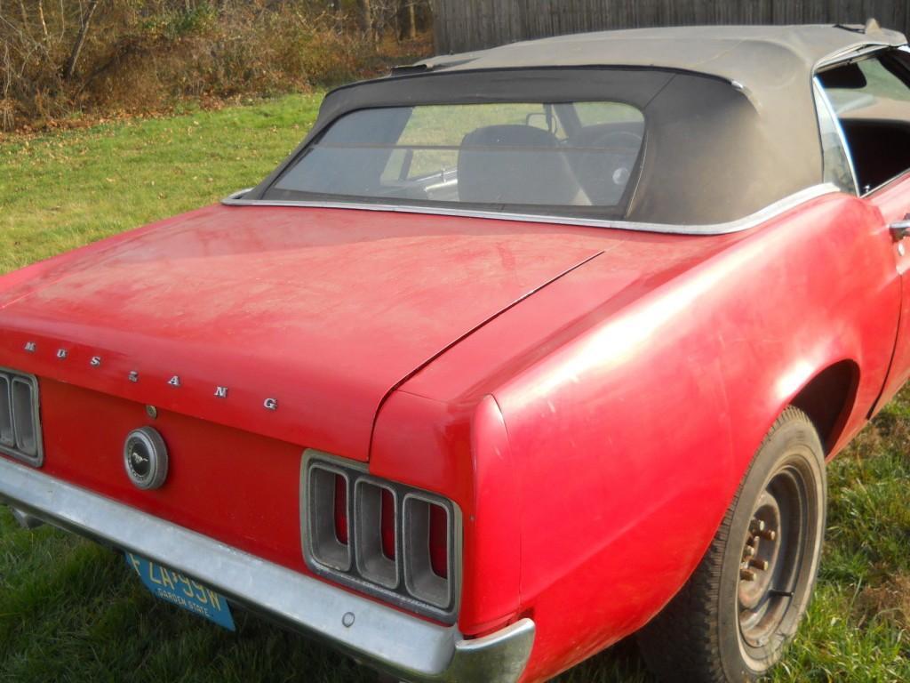 1970 FORD Mustang Original 302 V8 Convertible Restoration Project CAR