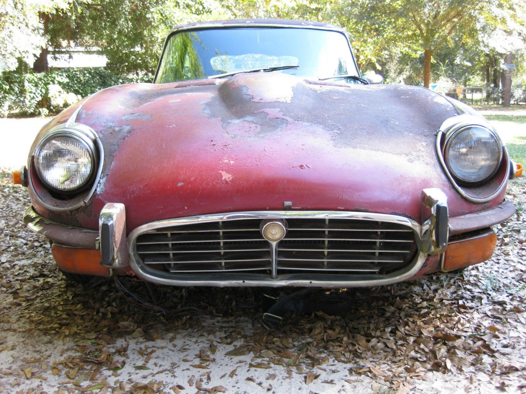 1972 Jaguar E type XKE V12 BARN FIND Project Parts Car
