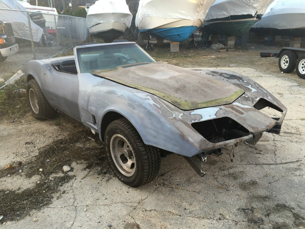 1975 Corvette Convertible Numbers Matching Frame Off