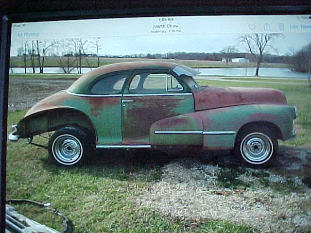 1948 Oldsmobile Coupe Street Rod Project Car