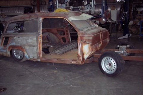 1949 Ford Woodie Wagon Project barn find for sale