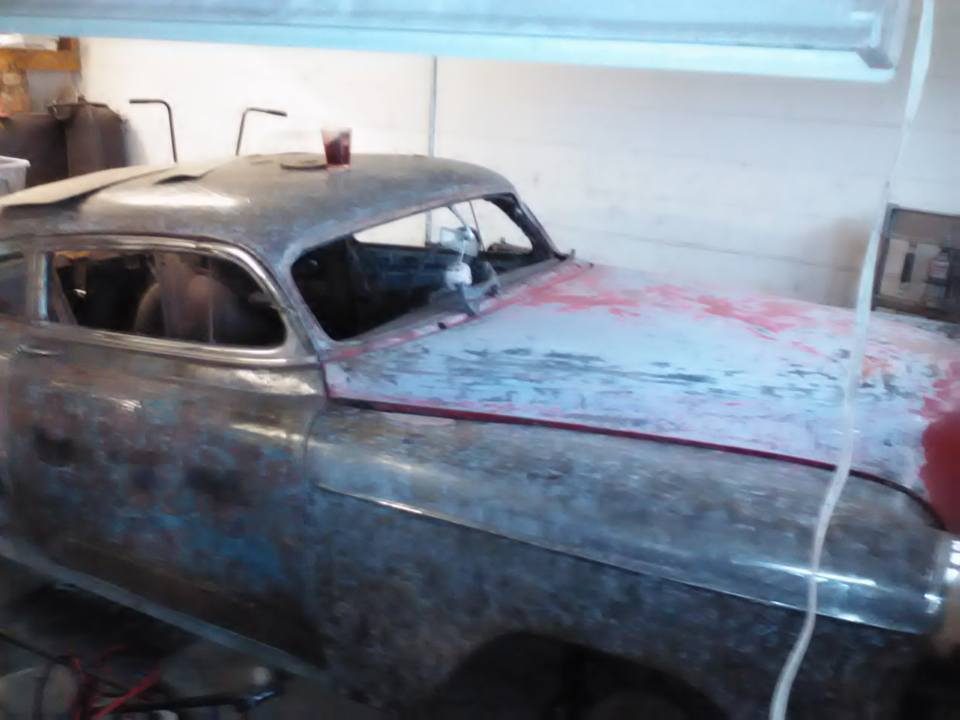 1954 chopped chevy bel air rat rod project car for sale. Black Bedroom Furniture Sets. Home Design Ideas