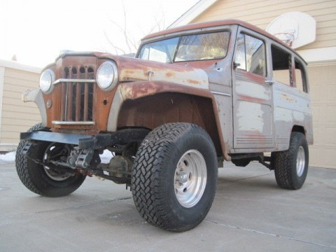 1956 Willy's Jeep Wagon 4×4 Truck Barn Find project for sale