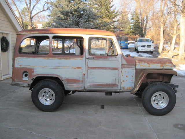 1956 willy s jeep wagon 4 4 truck barn find project for sale. Black Bedroom Furniture Sets. Home Design Ideas