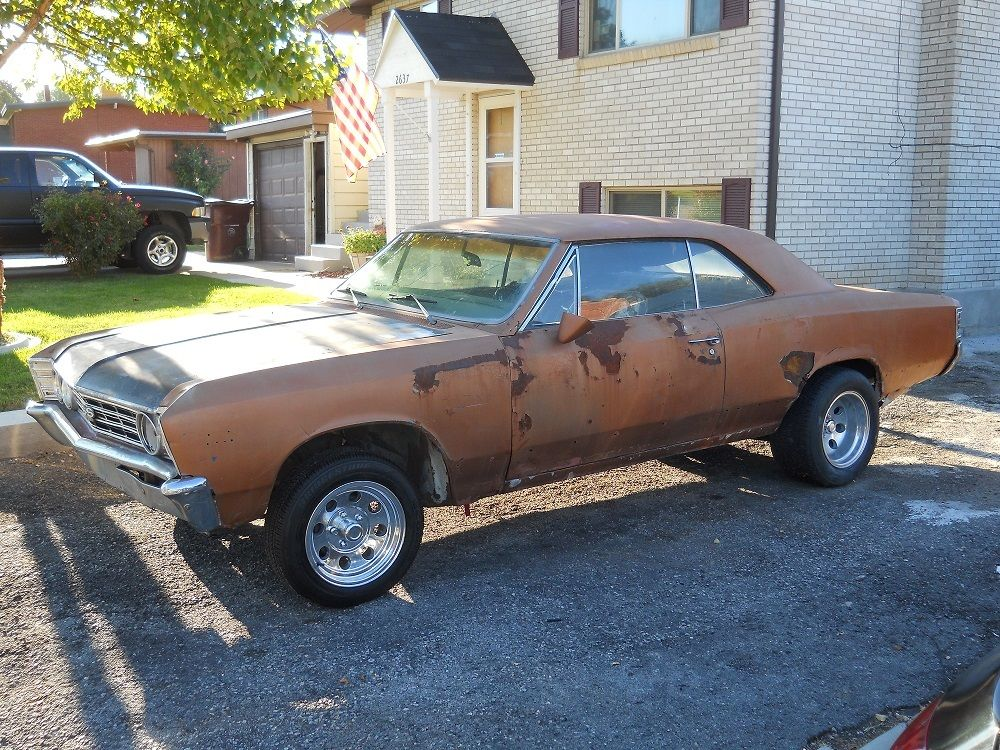 1967 chevrolet chevelle 396 sport coupe ss clone project for sale. Black Bedroom Furniture Sets. Home Design Ideas