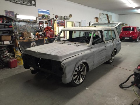 1970 Chevy K5 Blazer roller on shortened  C10 chassis for sale