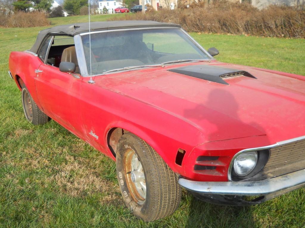 1970 ford mustang original 302 v8 convertible restoration project car for sale. Black Bedroom Furniture Sets. Home Design Ideas