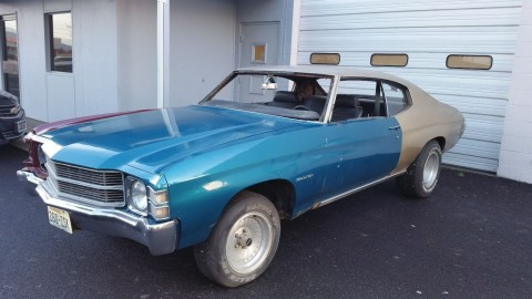 1971 Chevelle Malibu   Perfect New Year's Restoration Project for sale