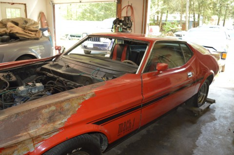 1973 Ford Mustang Mach 1 project car for sale