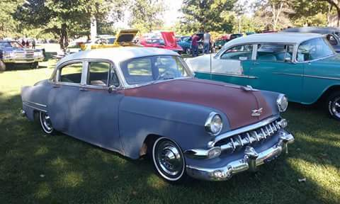 1954 Chevy Belair 4dr Project with extras