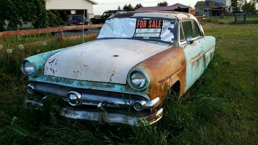 1954 Ford Victoria Hard Top Project Car Original 239 V8 W Automatic