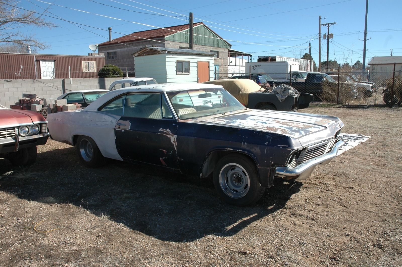 1965 chevrolet impala ss project car for sale for Motor cars for sale