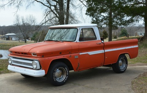 1966 Chevrolet C10 SWB Fleetside Custom Cab Pickup Truck Project for sale