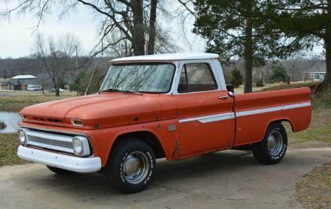 1966 Chevrolet C10 SWB Fleetside Custom Cab Pickup Truck Project for sale