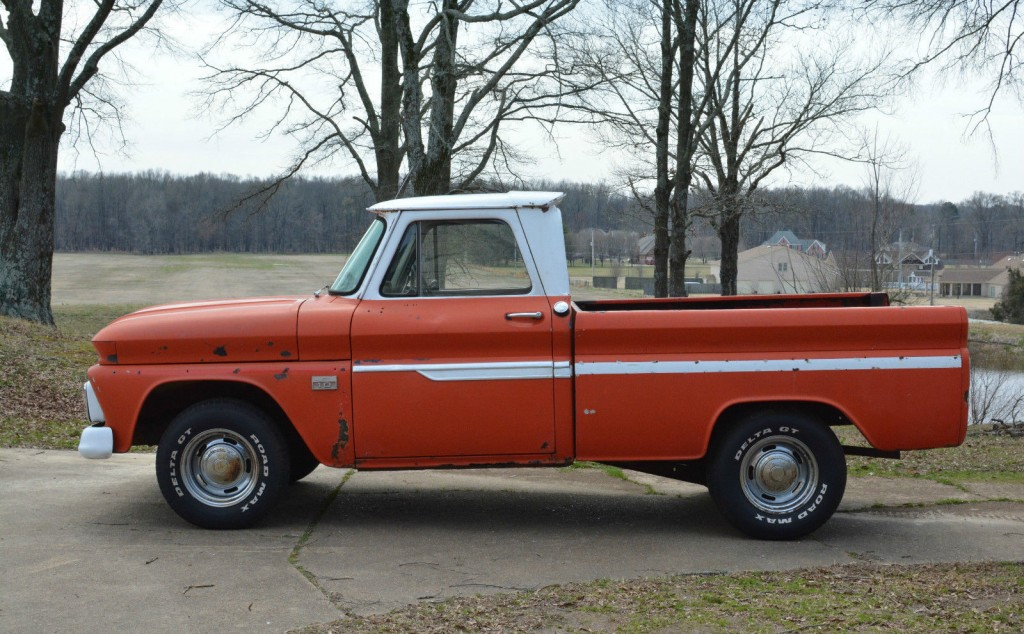 1966 chevrolet c10 swb fleetside custom cab pickup truck project for sale. Black Bedroom Furniture Sets. Home Design Ideas
