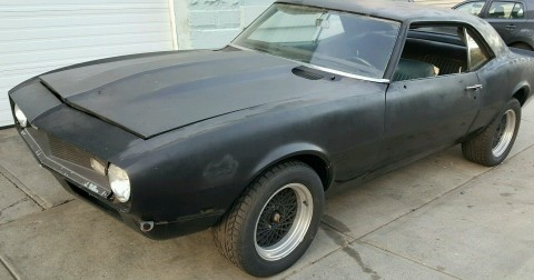 1968 Chevrolet Camaro v8 327 high performance project for sale