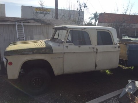 1968 Dodge D200 Crewcab Sweptline Project crew cab for sale