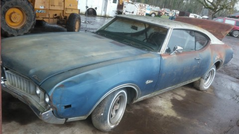 1969 Oldsmobile Cutlass 2 door Coupe project for sale