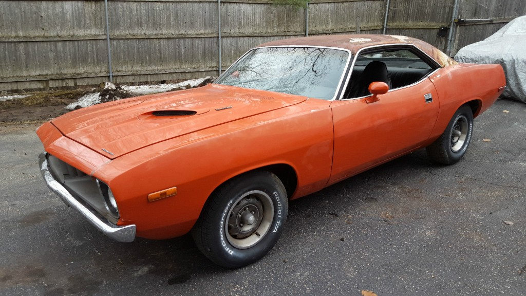 1972 Plymouth Barracuda CUDA Light Project Matching Numbers
