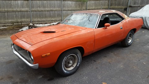 1972 Plymouth Barracuda CUDA Light Project Matching Numbers for sale