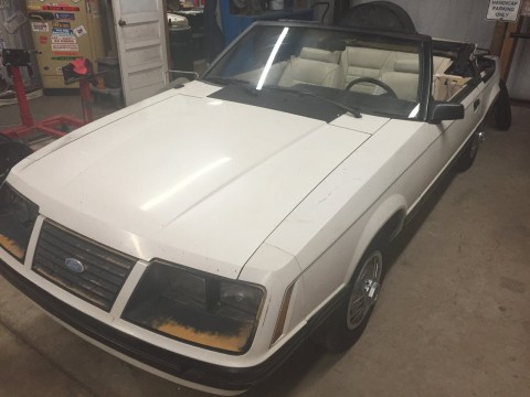 1983 Ford Mustang Convertible GLX project for sale