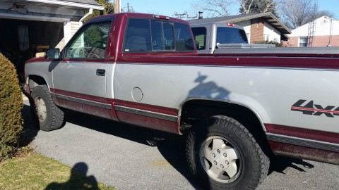 1995 Chevy K1500 Project Truck, 4×4 Chevrolet Silverado, 350 TBI, Rebuilt Engine for sale