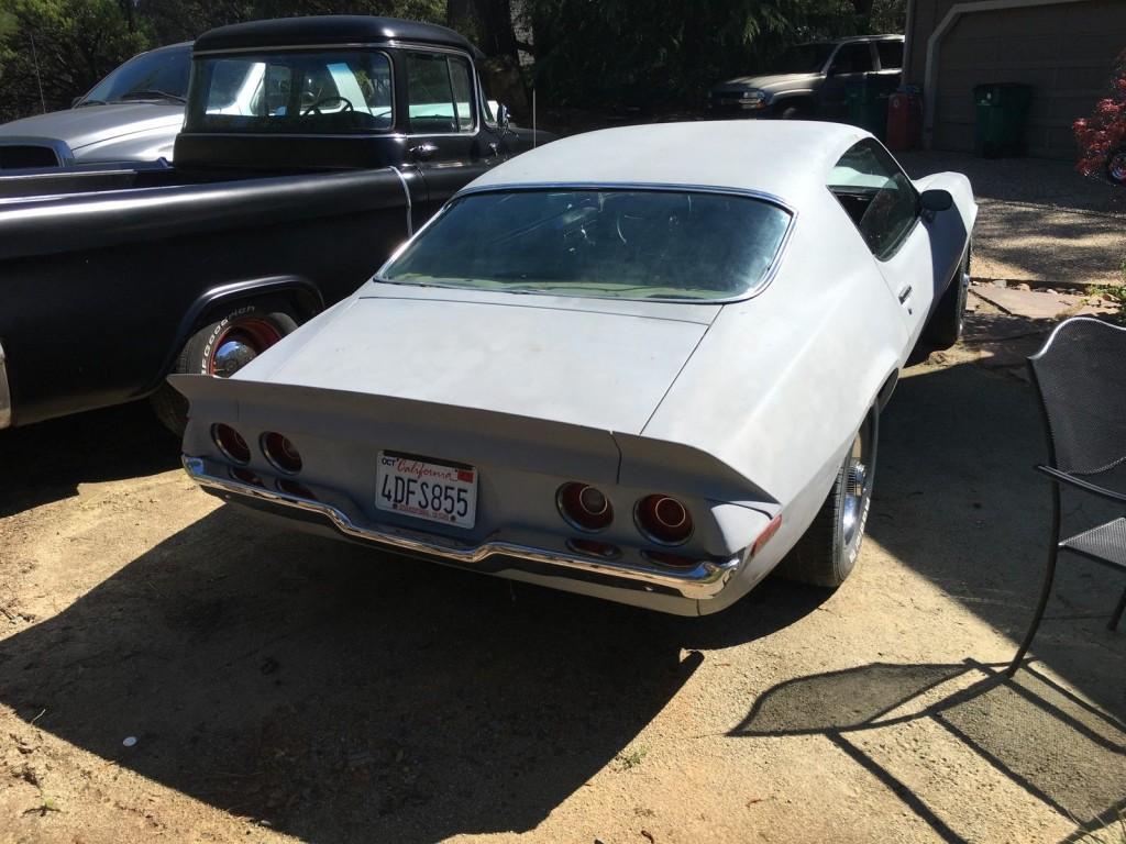 1971 Chevrolet Camaro RS SS 396 Big Block AC Car Project