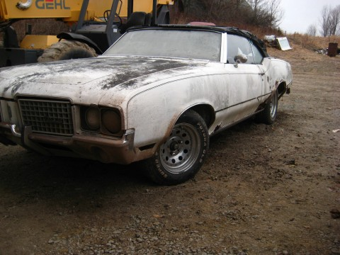 1972 Oldsmobile Cutlass Convertible Cutlass 442 Clone Restoration Project for sale