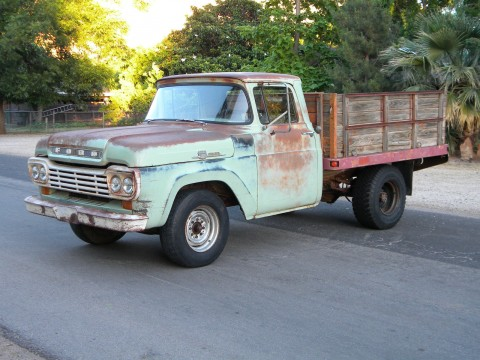 1959 Ford F 250 Stake Bed Ranch Truck for sale