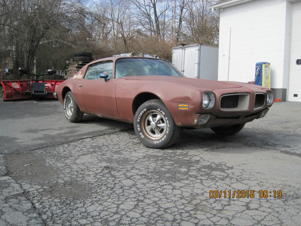 1972 pontiac firebird trans am project car for sale. Black Bedroom Furniture Sets. Home Design Ideas