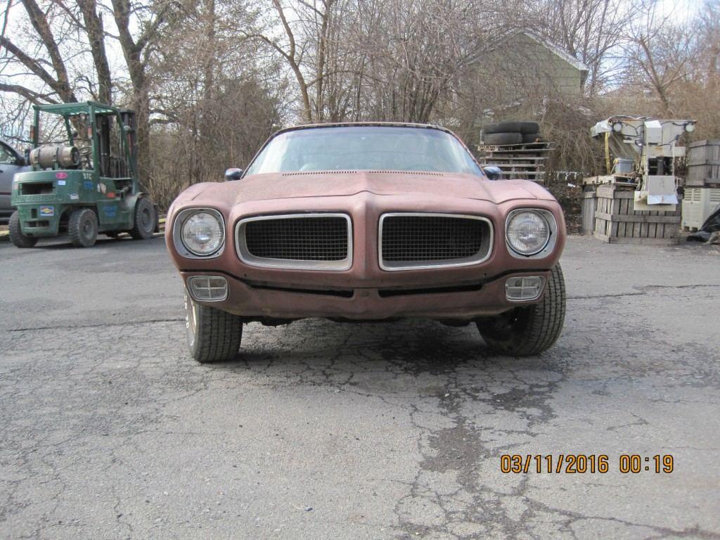 1972 Pontiac Firebird Trans Am Project Car