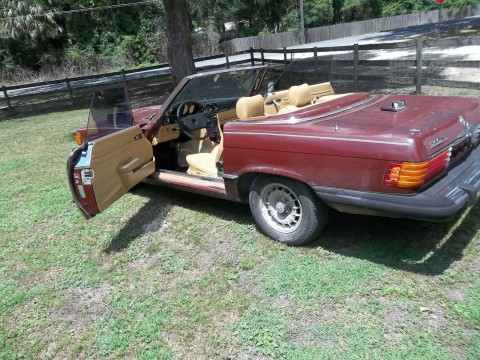 1981 Mercedes Benz 380 SL Maroon/tan Project car for sale