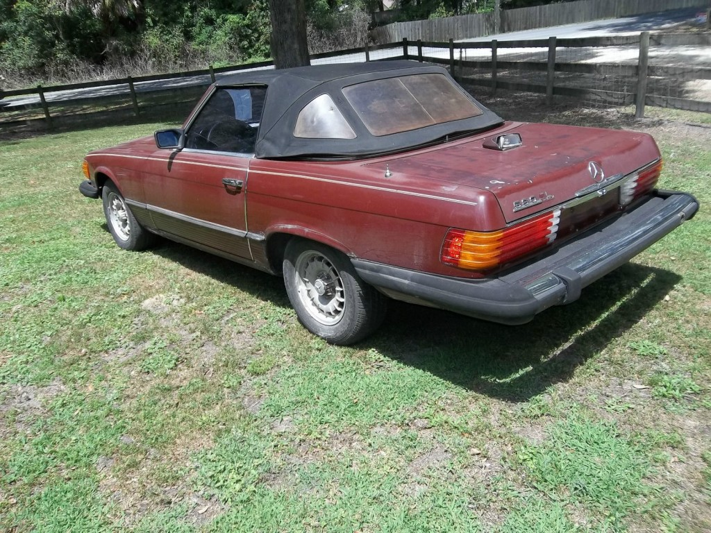 1981 Mercedes Benz 380 SL Maroon/tan Project car