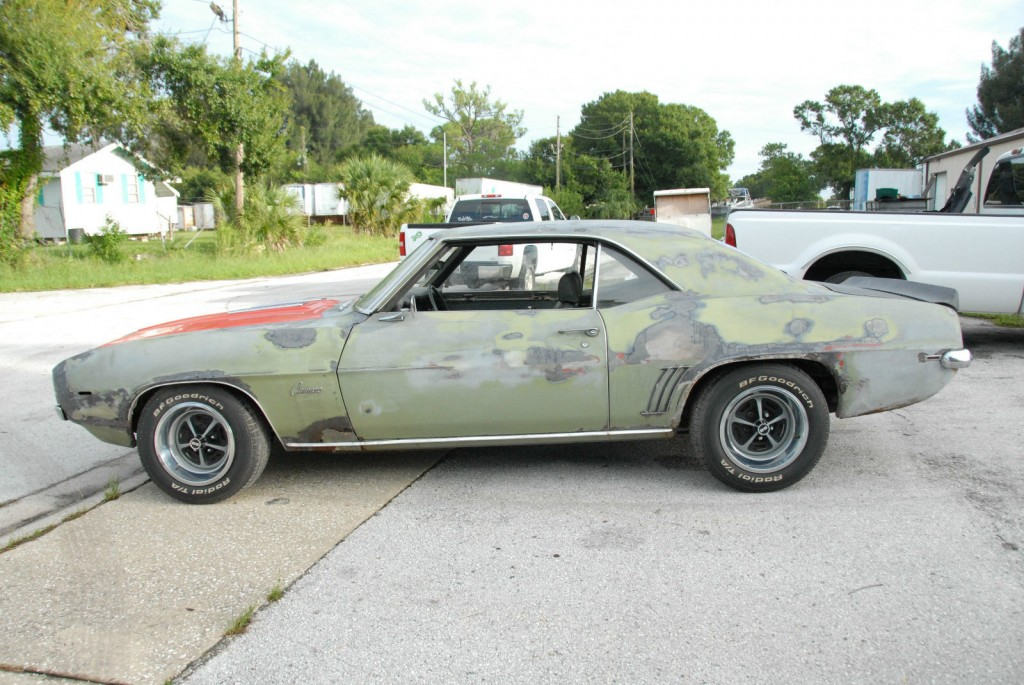 1969 Chevrolet Camaro Project Car For Sale