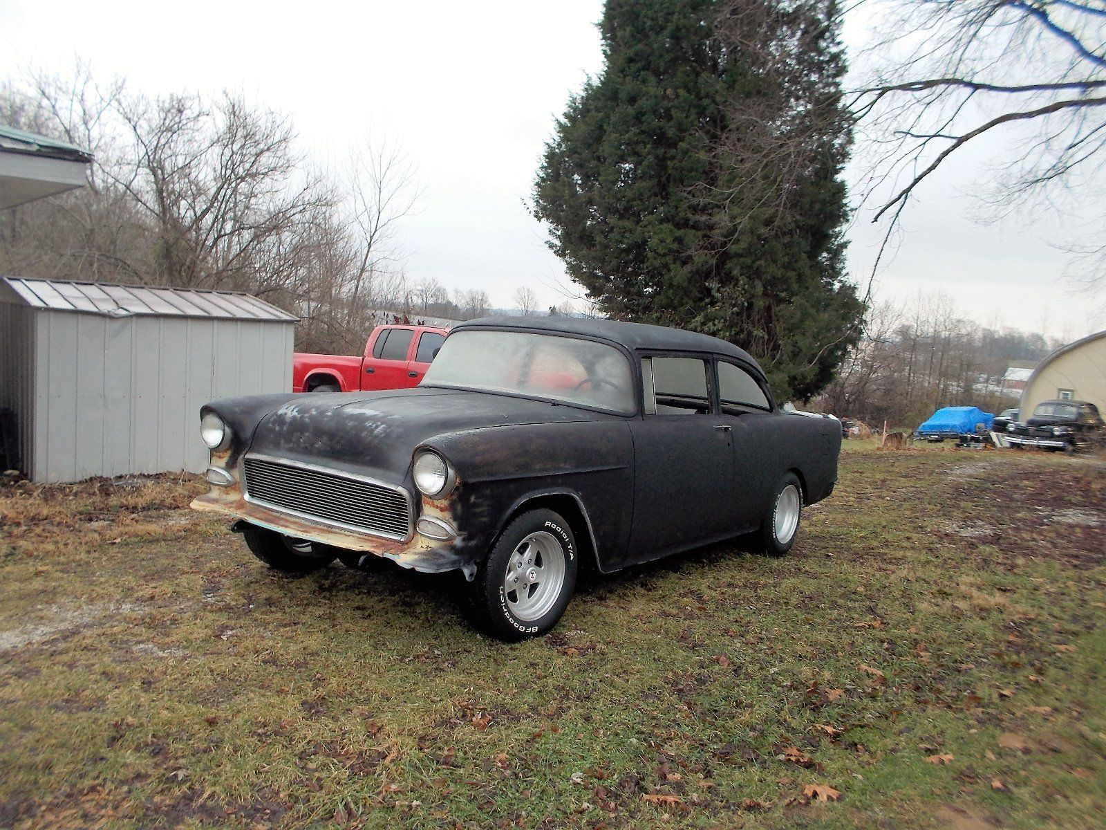 1955 chevy 2dr oldschool custom project car for sale. Black Bedroom Furniture Sets. Home Design Ideas